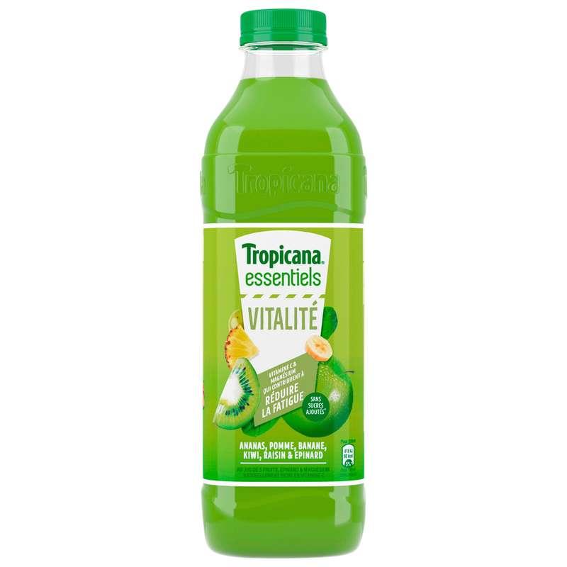 Jus de 5 fruits Vitalité enrichi en vitamines C et magnésium, Tropicana (1 L)