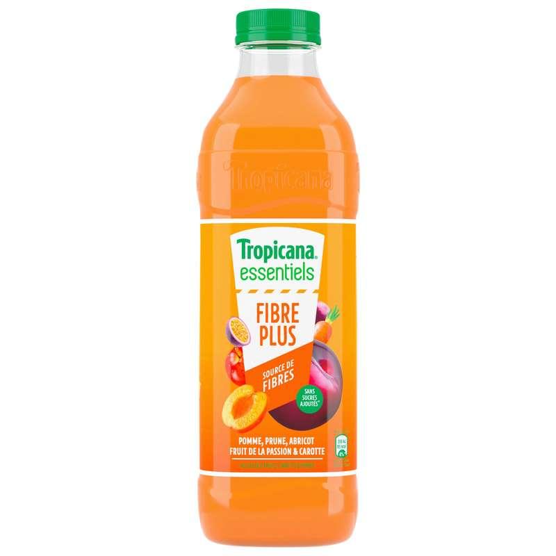 Jus de 6 fruits, carottes et fibres, Tropicana (1 L)