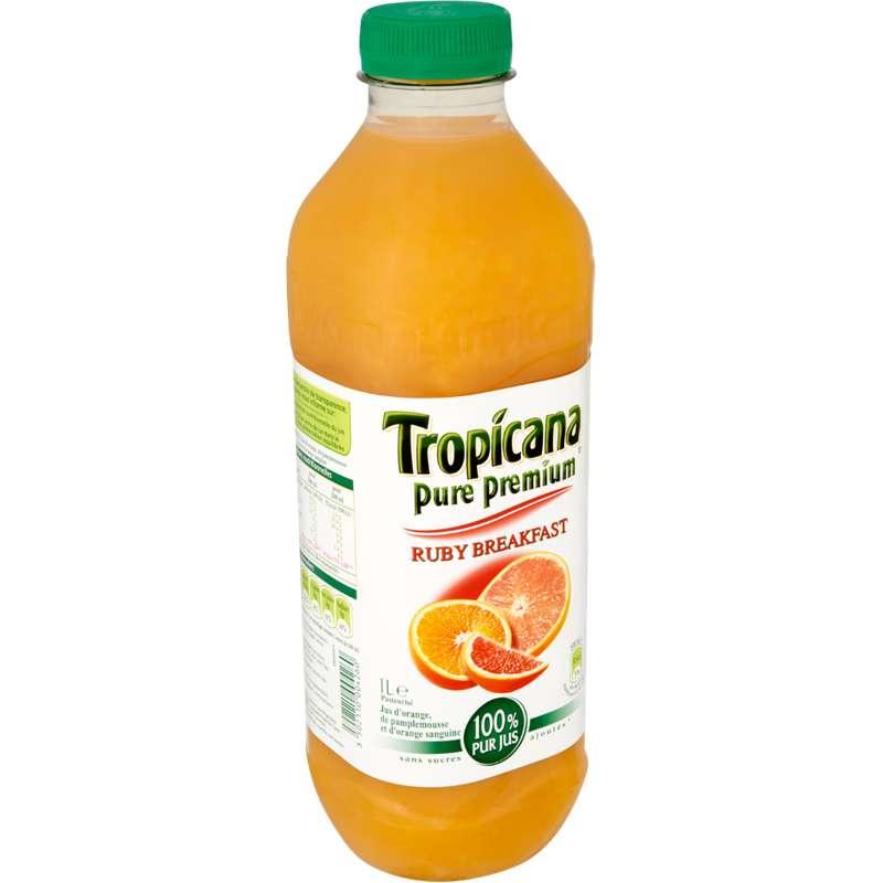 Jus ruby breakfast pamplemousse / orange / orange sanguine, Tropicana (1 L)