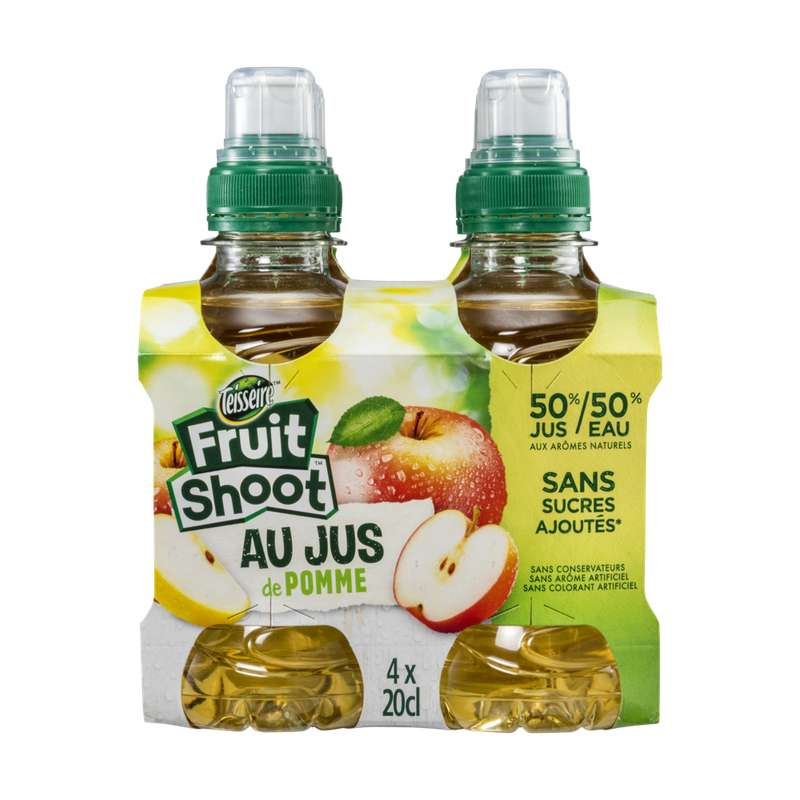 Pack Fruit Shoot pomme, Teisseire (4 x 20 cl)
