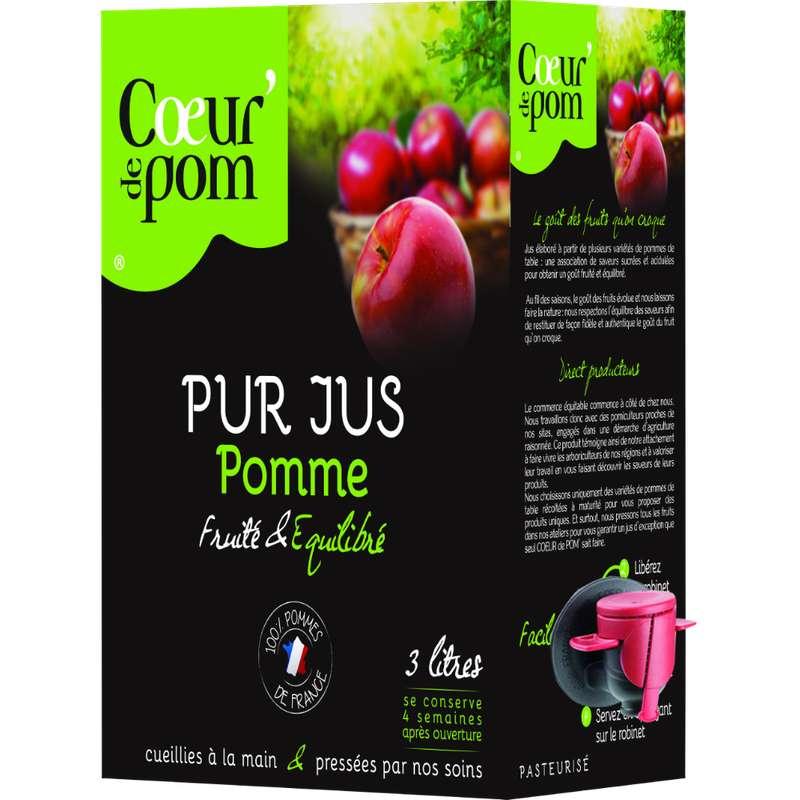 Jus de pomme naturel, Coeur de Pom' (3 L)