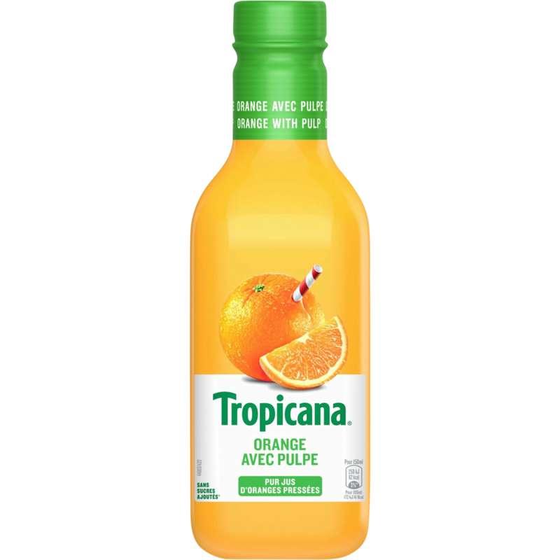 Jus d'orange avec pulpes frais, Tropicana (900 ml)