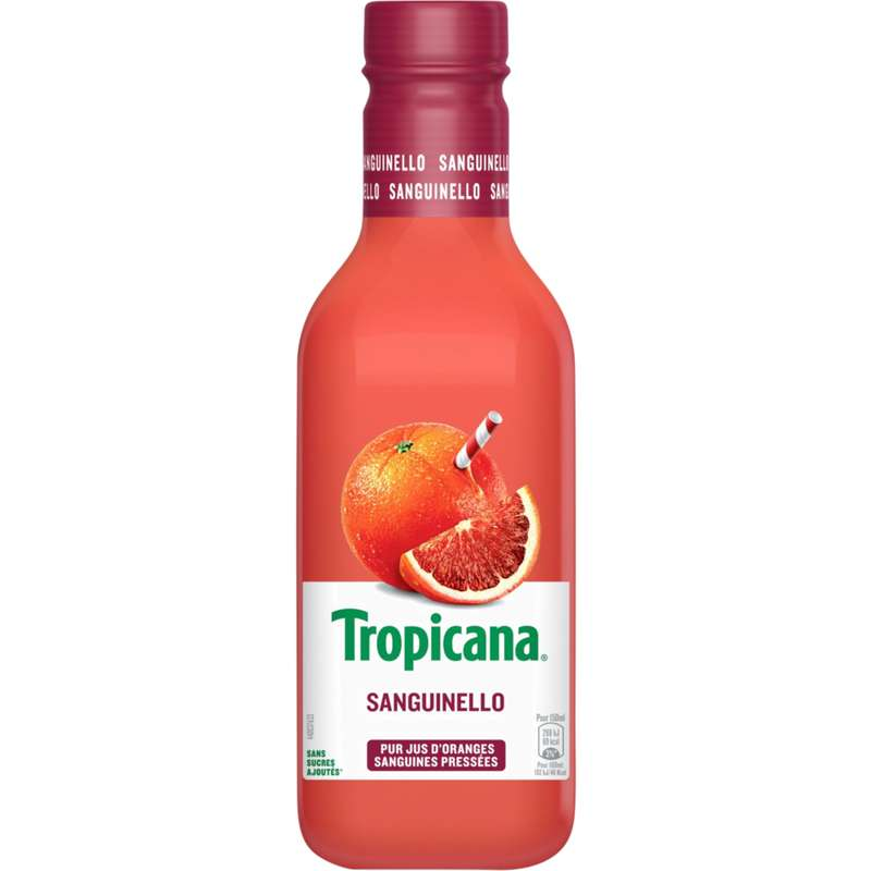 Jus d'orange sanguine frais, Tropicana (900 ml)
