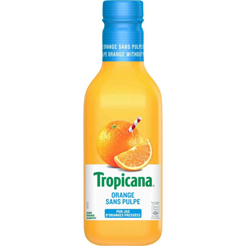 Jus d'orange sans pulpe frais, Tropicana (90 cl)