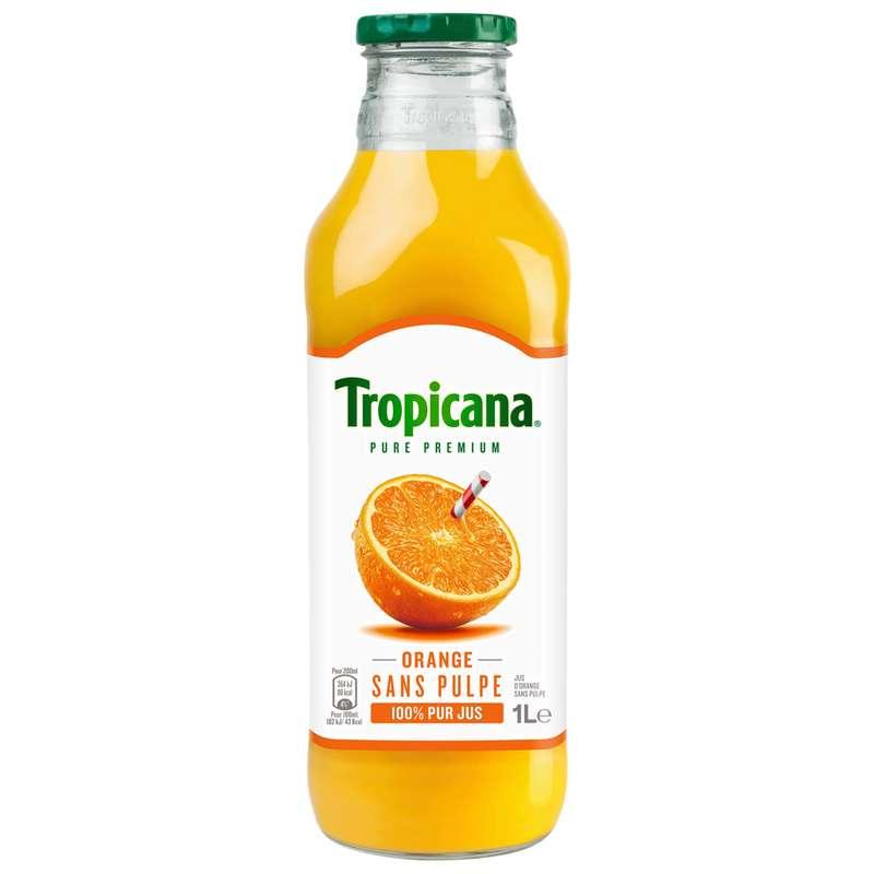 Jus d'oranges sans pulpe Premium, Tropicana (1 L)