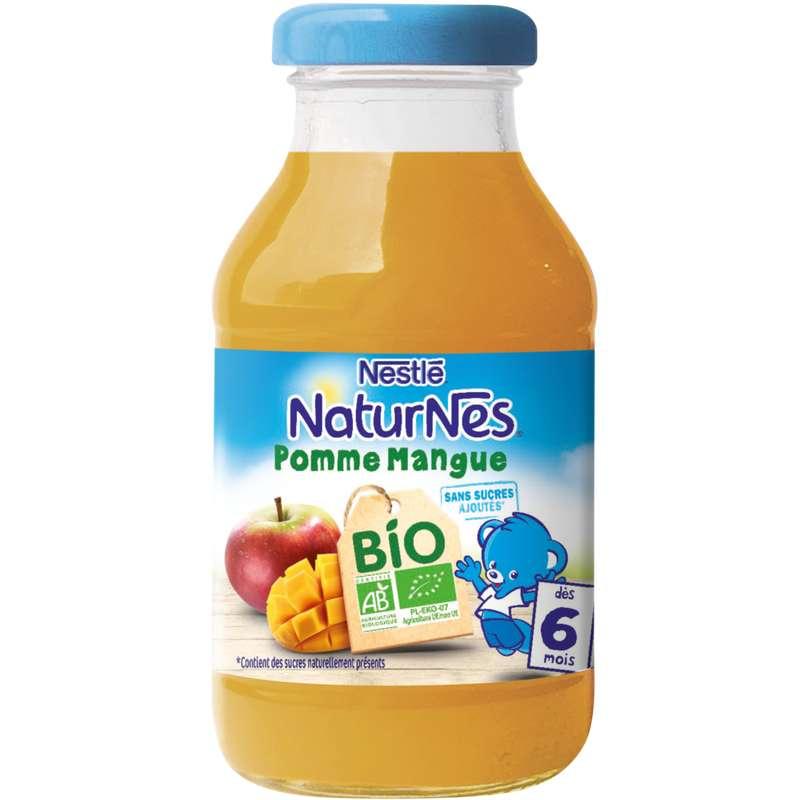 Jus pomme mangue BIO - dès 6 mois, Naturnes Nestlé (200 ml)