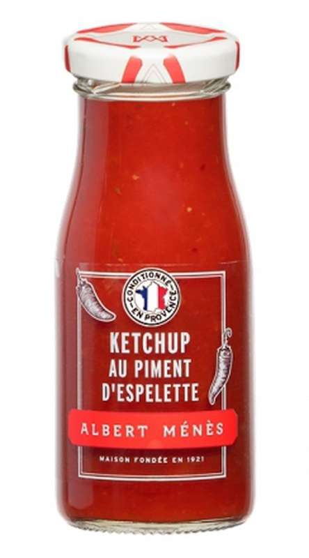 Ketchup gastronomique rouge au piment d'Espelette, Albert Ménès (150 g)