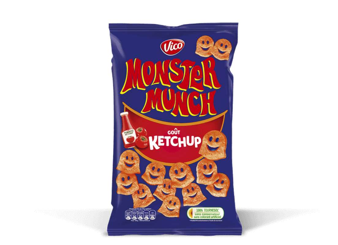 Monster Munch goût Ketchup, Vico (85 g)