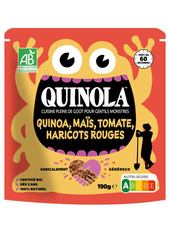Kids quinoa maïs, tomates et haricots rouge BIO, Quinola (190 g)