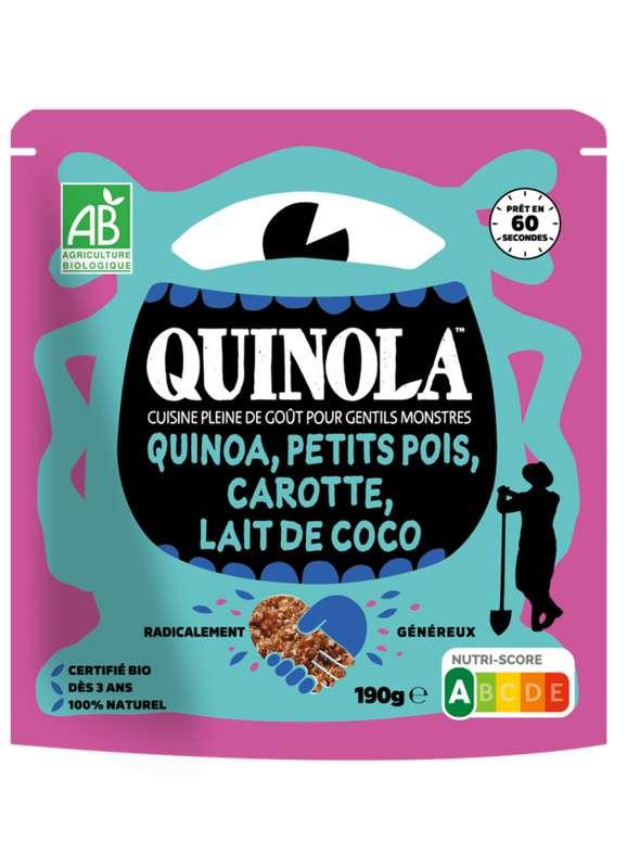 Kids quinoa petit pois, carotte et lait de coco BIO, Quinola (190 g)