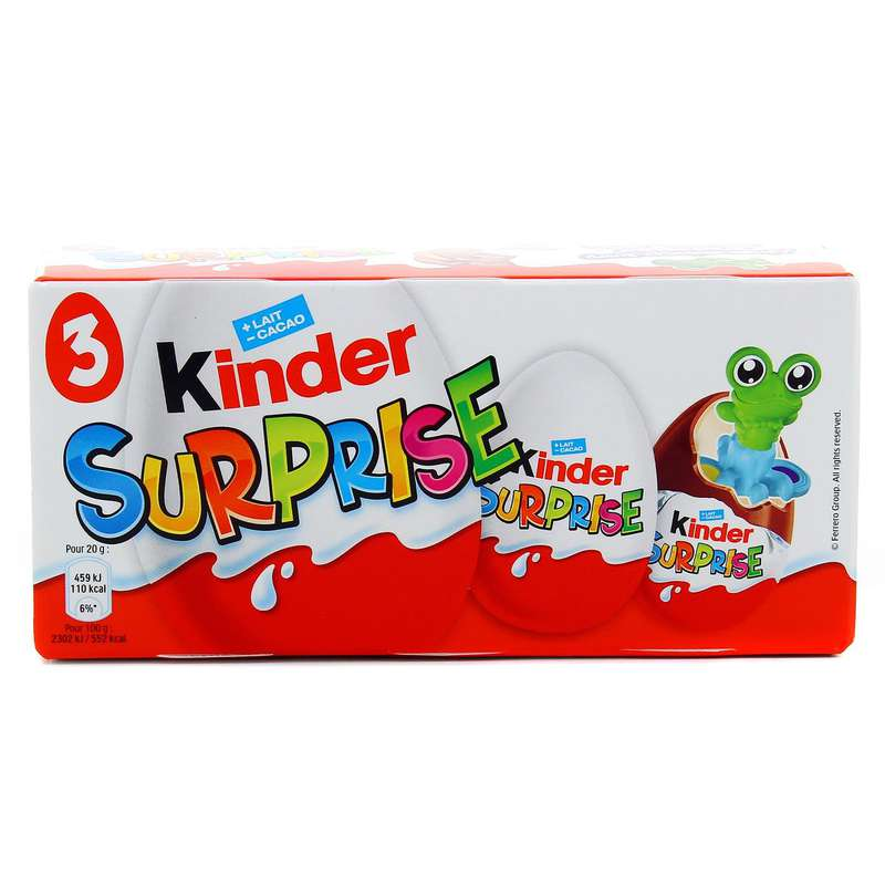 Kinder surprise Unisexe (pack de 3 œufs)