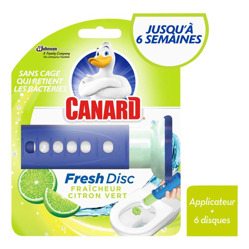 Fresh disc citron vert, Canard (1 applicateur + 6 disques)