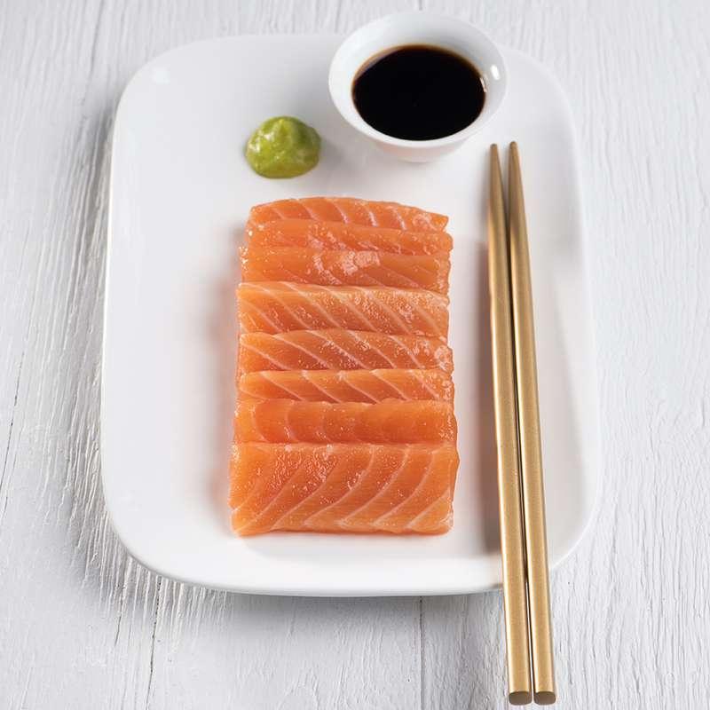 Kit recette / Sashimi de saumon et son riz vinaigré, édamame et concombre BIO (pour 2)