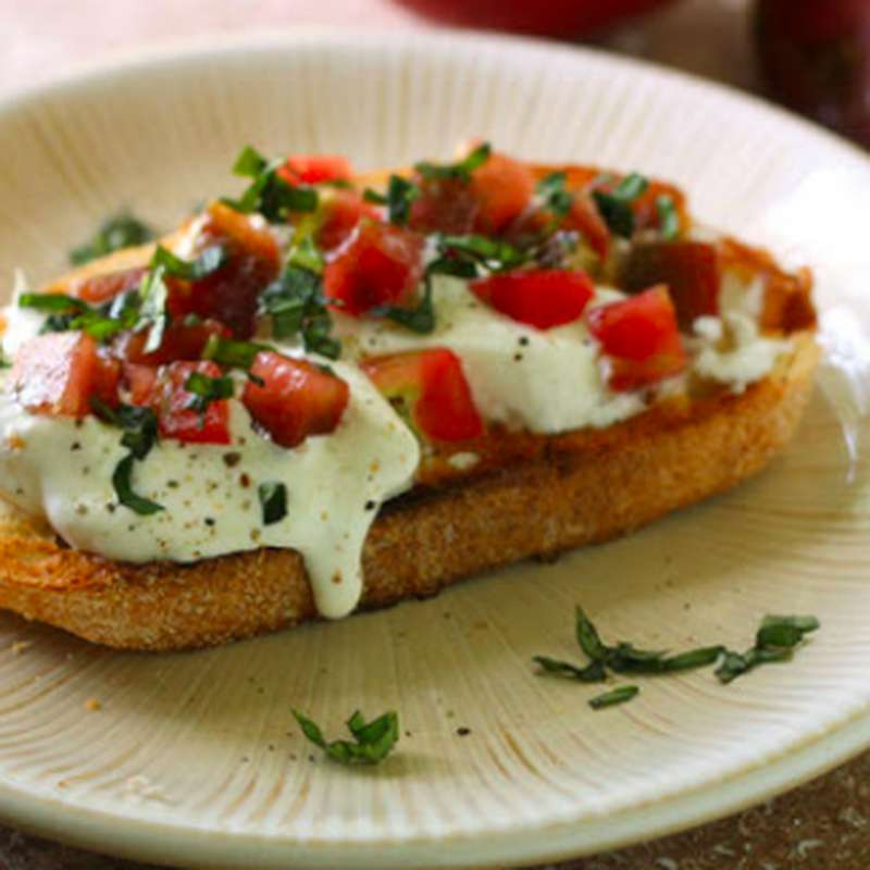 Kit recette / Tartine de burrata, parme, tomate coeur de boeuf et basilic (x 2)