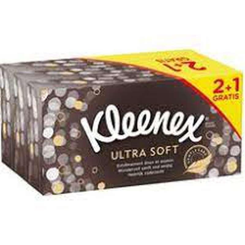 Boîte de mouchoirs ultra soft, Kleenex OFFRE SPÉCIALE / 2 + 1 offert (x 3)