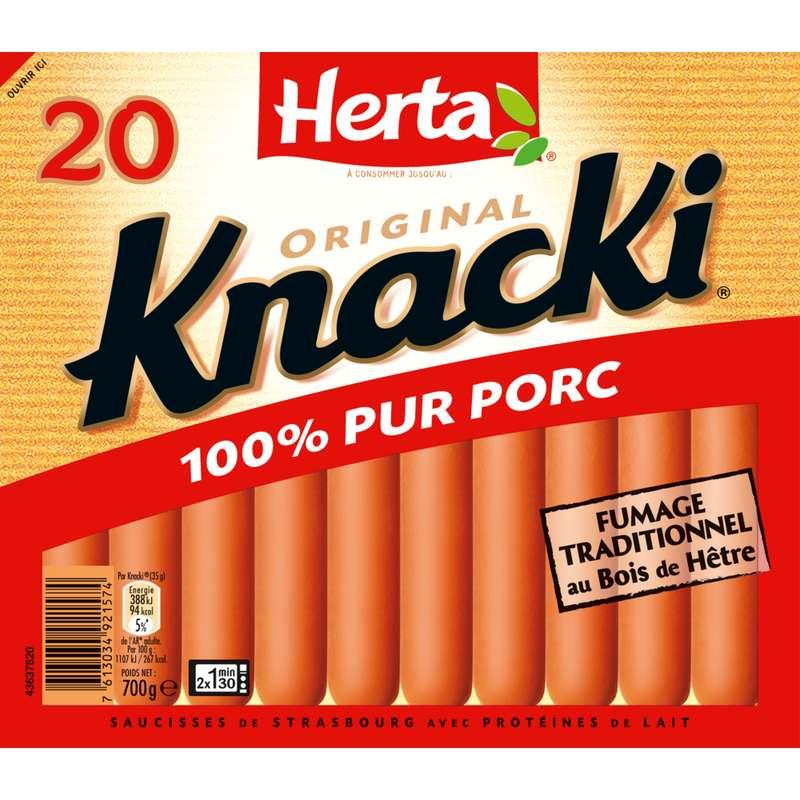 Knacki original, Herta (x 20, 700 g)