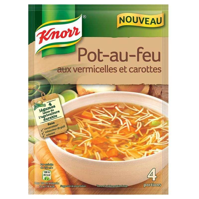 Soupe déshydratée pot au feu vermicelles et carottes, Knorr (55 g)