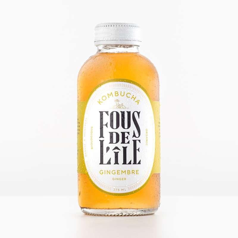 Kombucha Gingembre BIO, Fous de l'Ile (375 ml)
