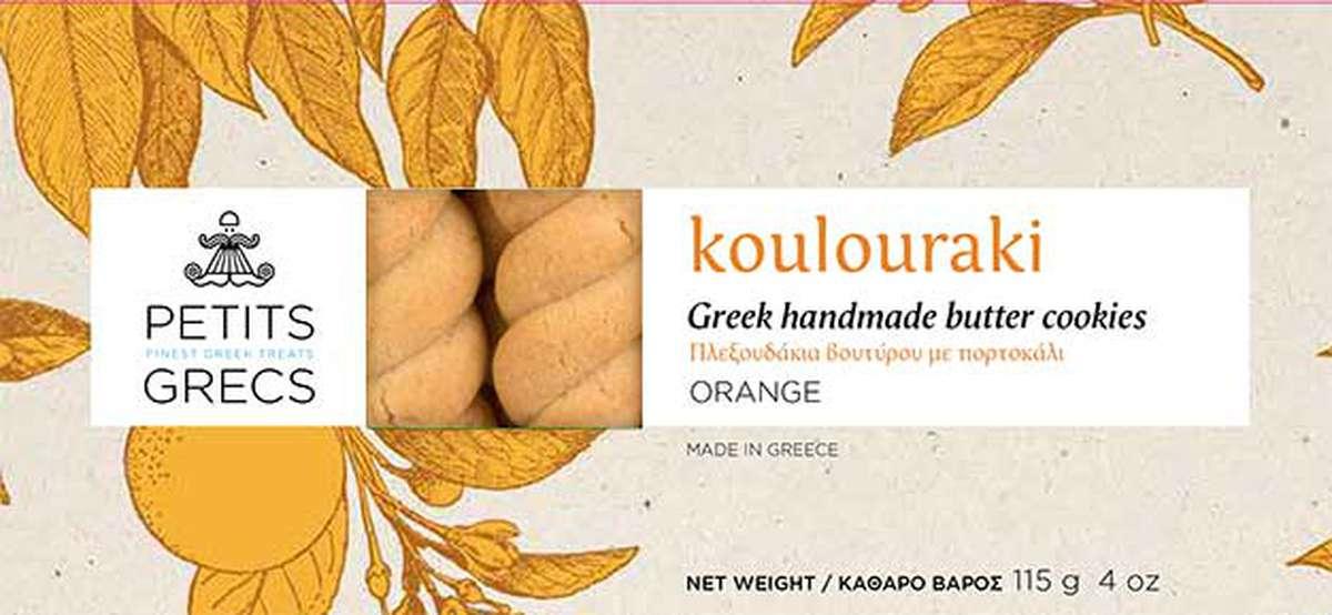 Koulouraki à l'orange, Petits Grecs (115 g)