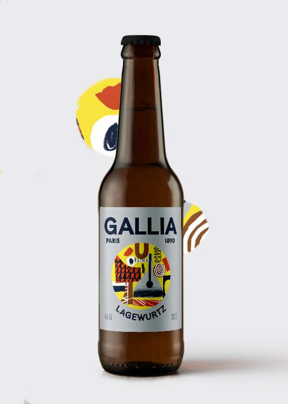 Lagewurst bière blonde 4%, Gallia (33 cl)