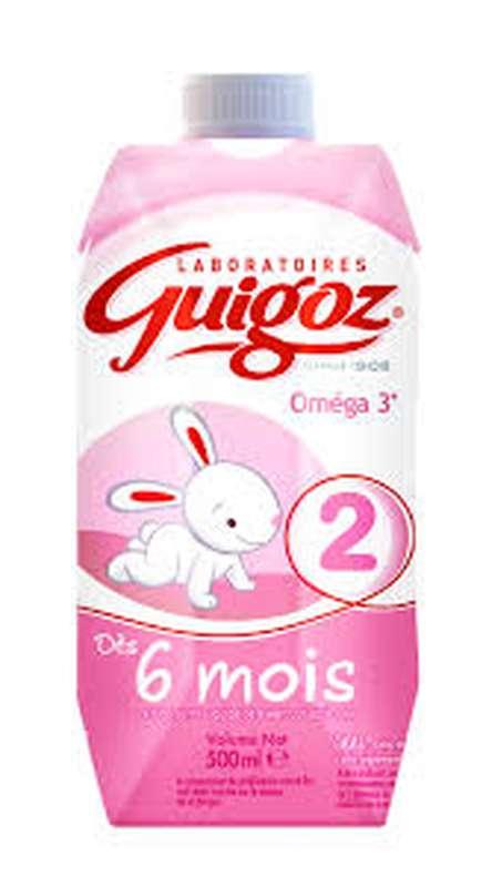 Lait 2ème âge Optipro - de 6 mois à 1 an, Guigoz (500 ml)