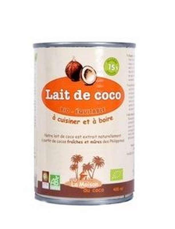 Lait à boire coco muesli 15 % MG BIO, La Maison du Coco (400 g)