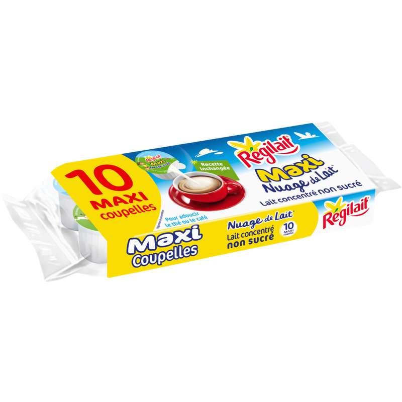 Nuage de lait concentré non sucré en maxi coupelles, Regilait (x 10, 140 g)