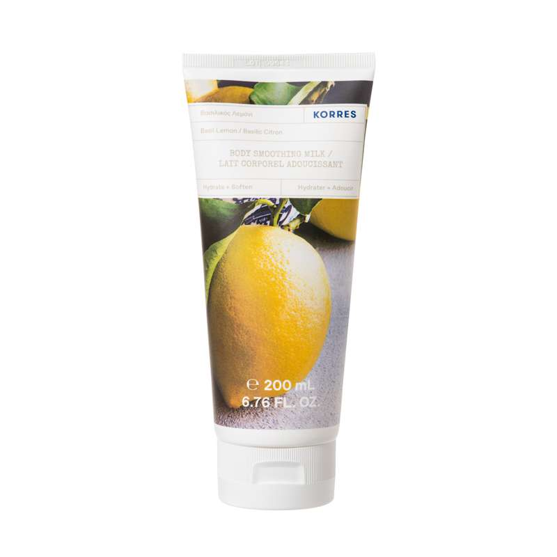 Lait corps douceur Basilic Citron, Korres (200 ml)