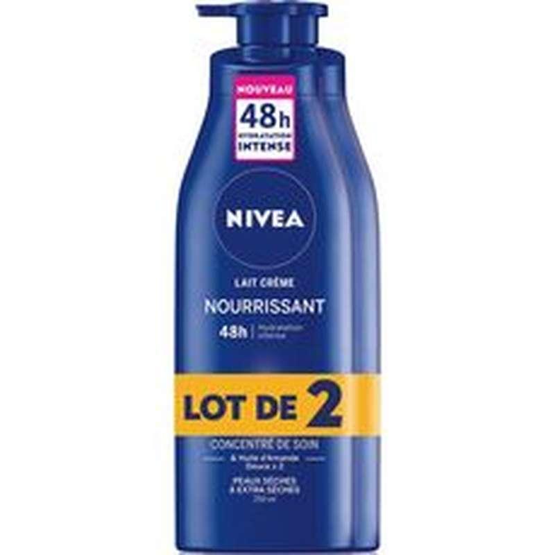 Lait Crème Nourrissant, Nivea Body LOT DE 2 (2 x 250 ml)