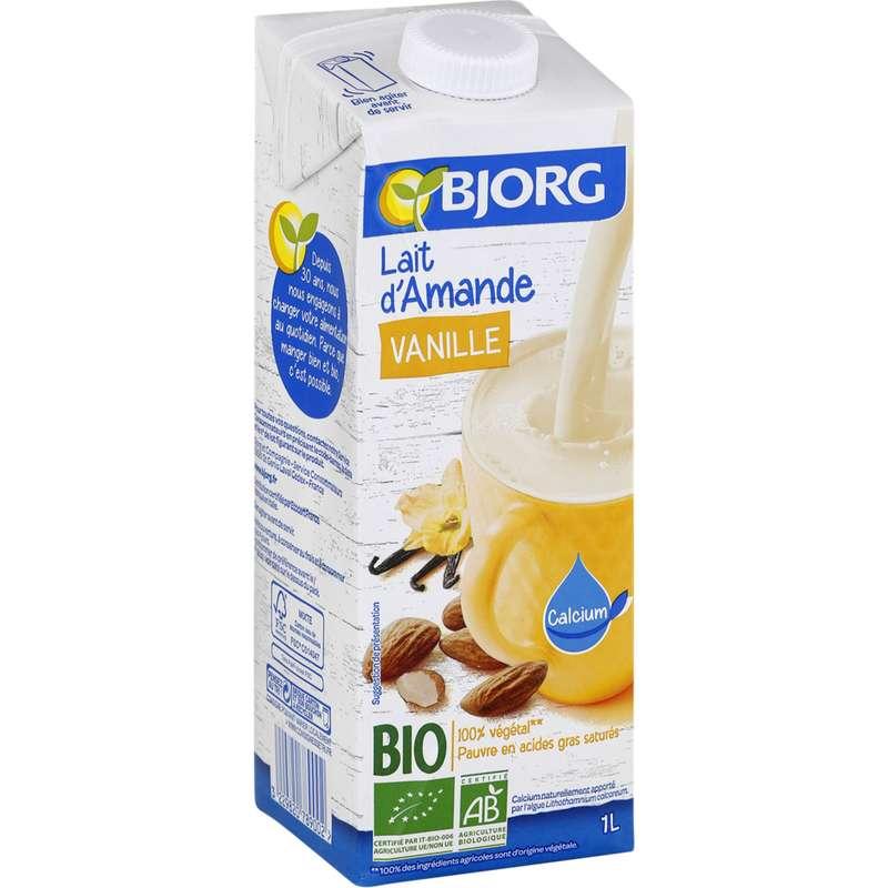 Lait d'amande vanille enrichie au calcium BIO, Bjorg (1 L)