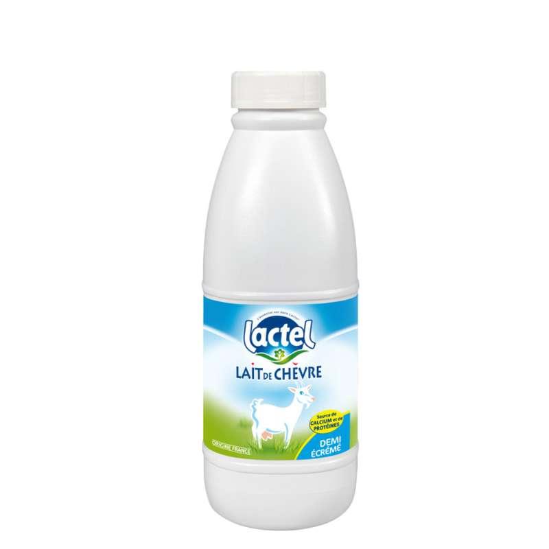 Lait de chèvre UHT demi-écrémé, Lactel (1 L)
