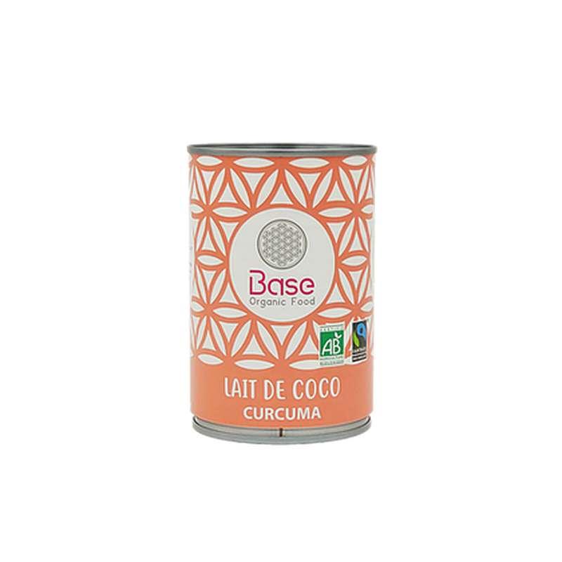 Lait de coco Curcuma onctueux 17% mg BIO, Base Organic Food (400 ml)
