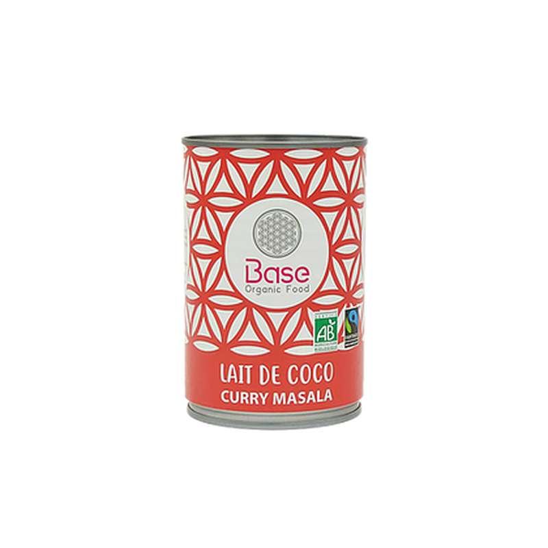 Lait de coco Curry Masala onctueux 17% mg BIO, Base Organic Food (400 ml)