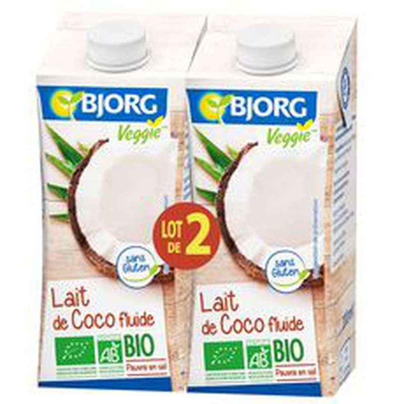 Lait de coco fluide cuisine BIO, Bjorg (2 x 200 ml)