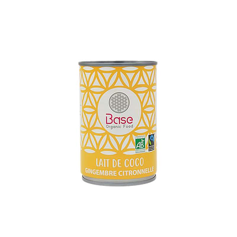 Lait de coco Gingembre Citronelle 17% mg BIO, Base Organic Food (400 ml)