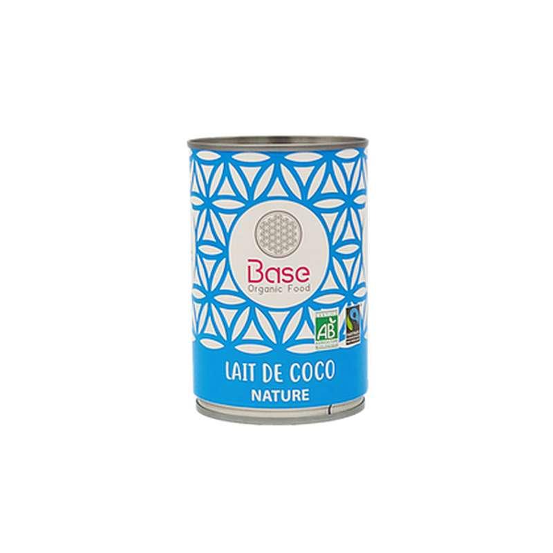 Lait de coco léger 17% mg nature BIO, Base Organic Food (400 ml)