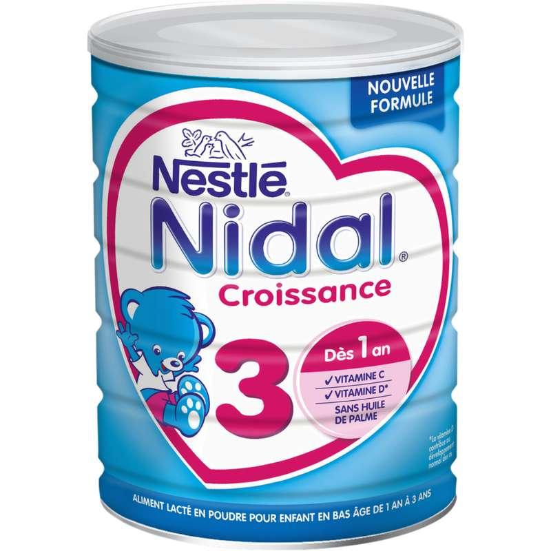 Lait de croissance 3 Nidal - dès 1 an, Nestlé (800 g)