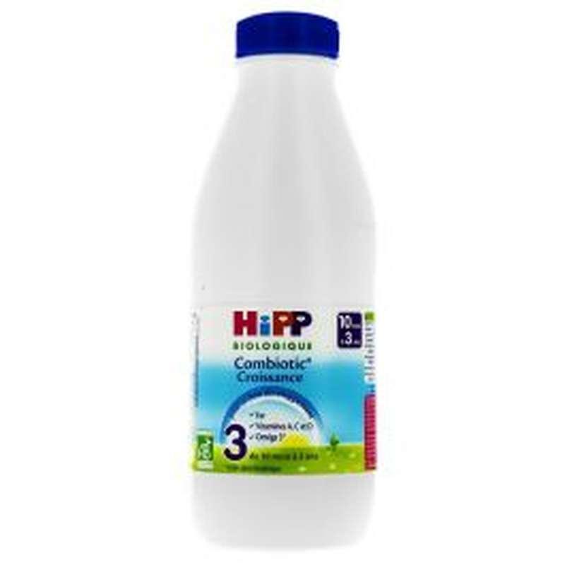 Lait de croissance combiotic 3 BIO - de 10 à 36 Mois, Hipp (1 L)