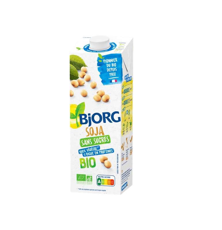 Boisson soja sans sucres ajoutés BIO, Bjorg (1 L)