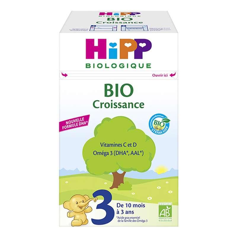 Lait de suite Croissance 3 BIO - de 10 mois à 3 ans, Hipp (700 g)