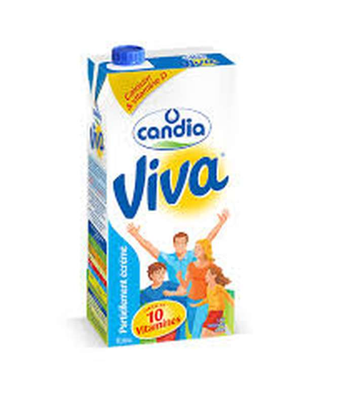 Lait Viva demi-écrémé UHT, Candia (1 L)