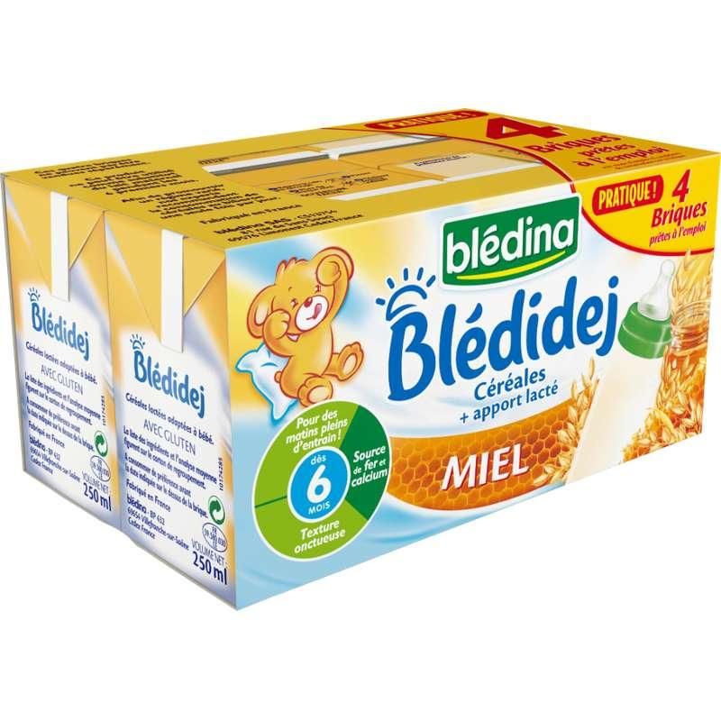 Blédidej céréales saveur miel - dès 6 mois, Blédina (4 x 250 ml)