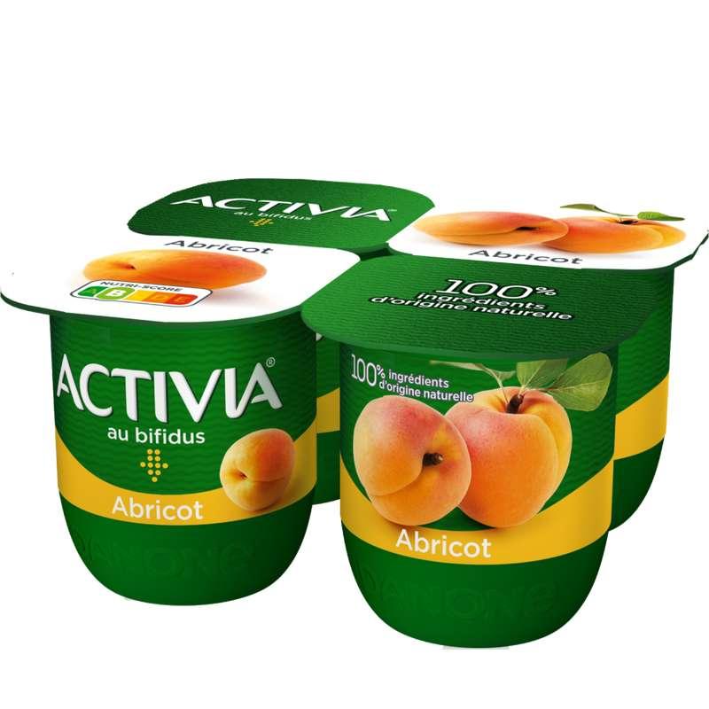 Yaourt à l'abricot, Activia (4 x 125 g)
