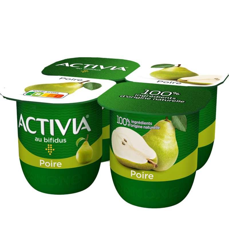 Yaourt bifidus à la poire, Activia (4 x 125 g)