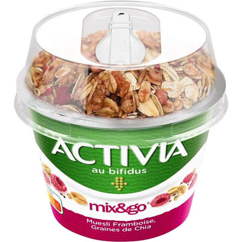 Yaourt müesli framboise et graines de chia, Activia (170 g)