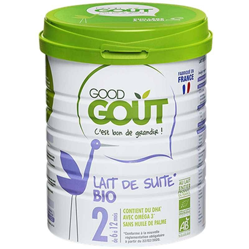 Lait de suite 2ème âge BIO – de 6 à 12 mois, Good Goût (800 g)