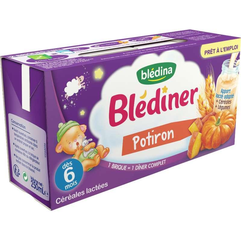Blédiner au potiron - dès 4/6 mois, Blédina (2 x 250 ml)