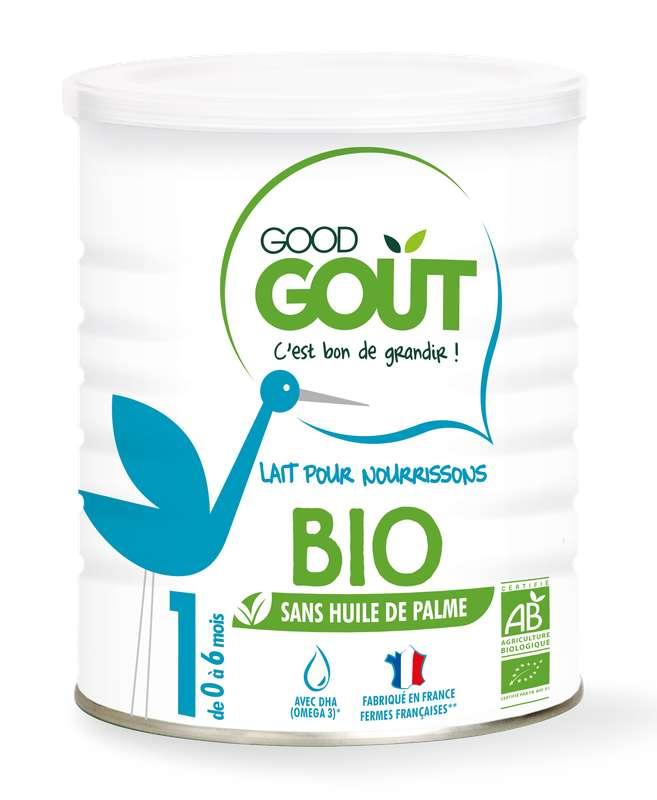 Lait pour nourrissons 1er âge BIO – de 0 à 6 mois, Good Goût (400 g)