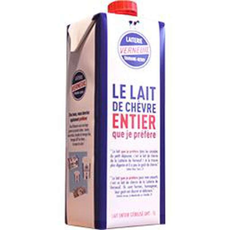Lait UHT de chèvre entier, Verneuil (1 L)