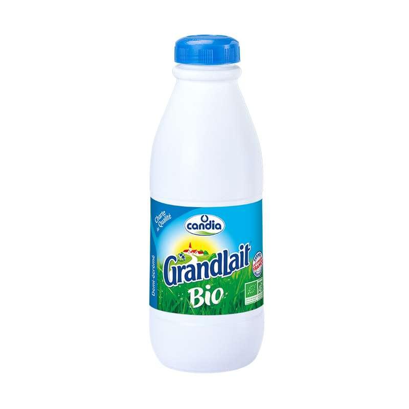 Lait UHT demi-écrémé BIO, Grandlait (1 L)